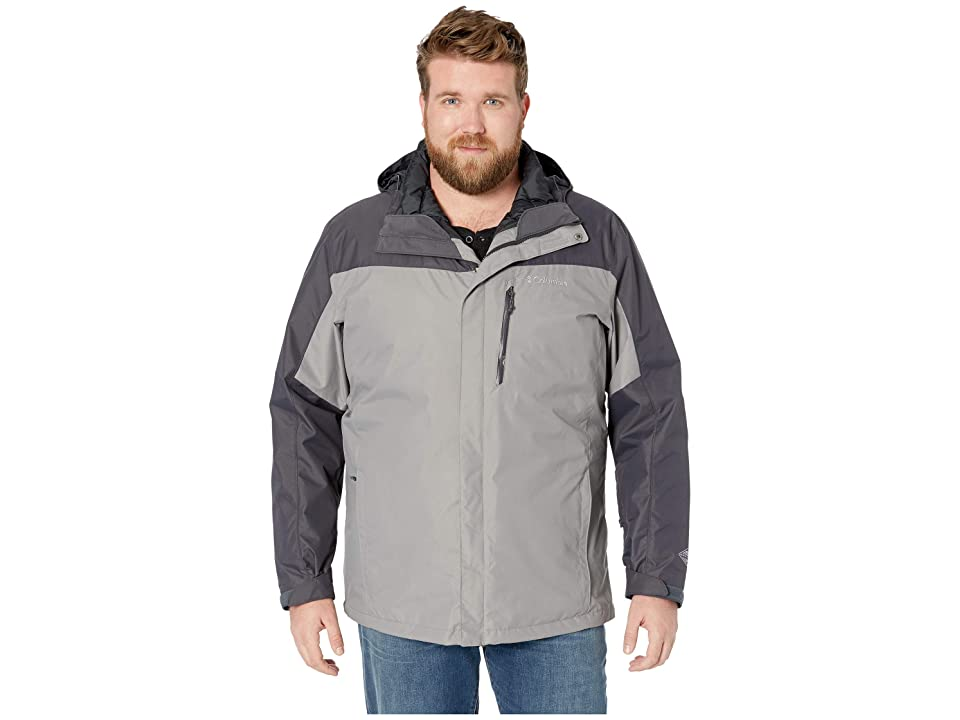 Columbia Big Tall Whirlibirdtm III Interchange Jacket (Boulder/Shark/Black) Men