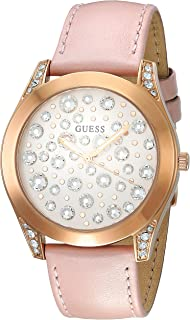 Guess Wonderlust Women's Multi Color Dial Leather Band Watch - W1065L1