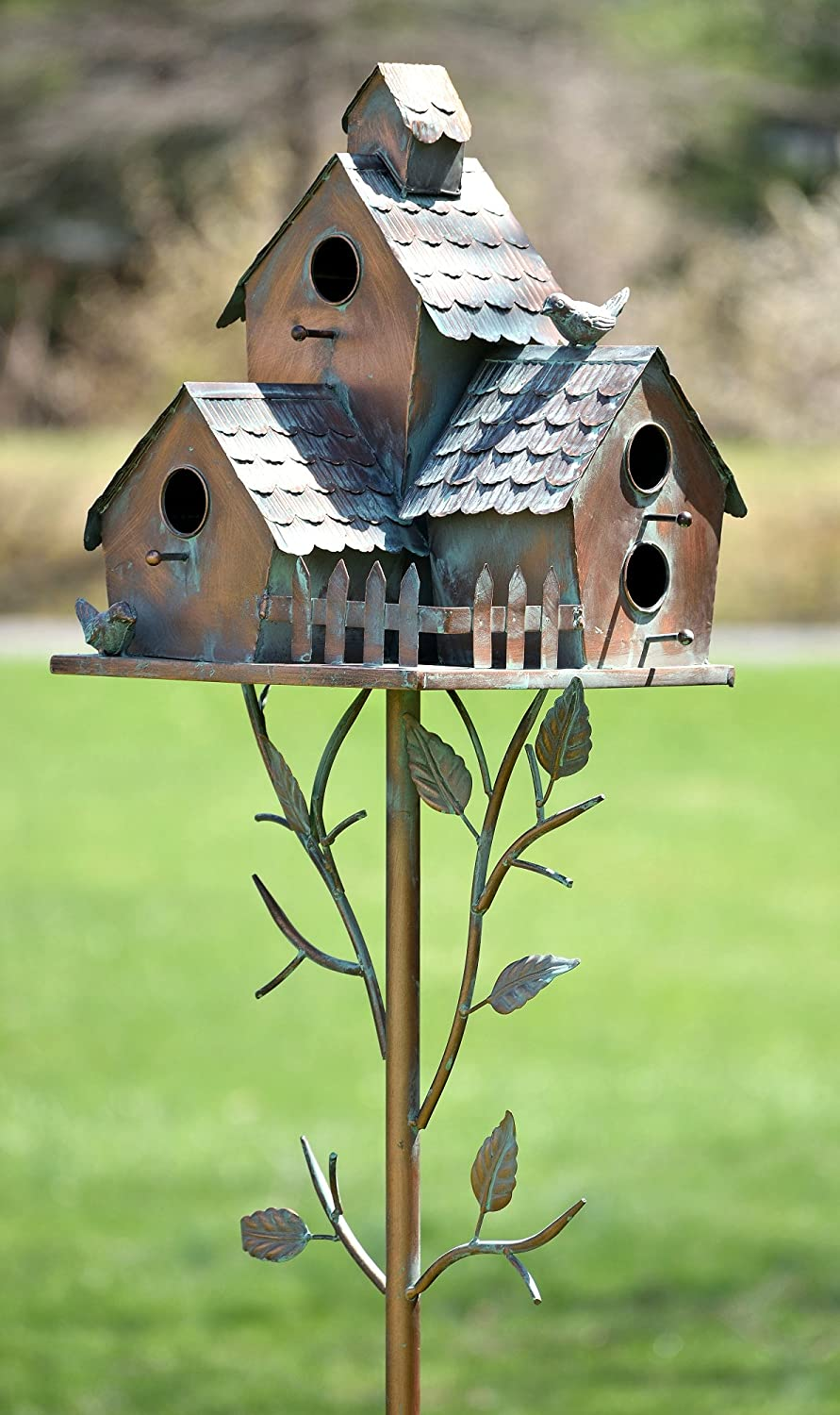 Zaer Ltd. Large Copper Colored Multi-Birdhouse Stakes Room Weekly update for Over item handling