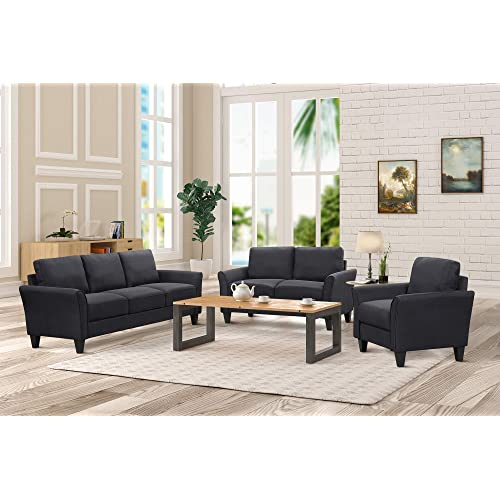 Admirable Black Sofas For Living Room Amazon Com Beatyapartments Chair Design Images Beatyapartmentscom