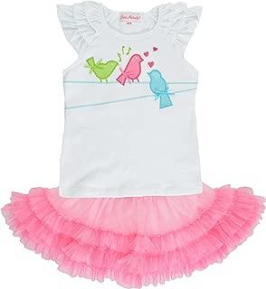 Girls 2-6X 2-Piece Embellished Top & Tutu Skirt Set