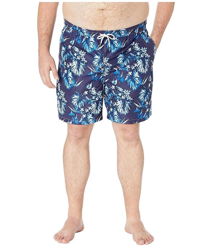Polo Ralph Lauren Big and Tall Polyester Traveler Swim Trunks (Tonal Floral) Men