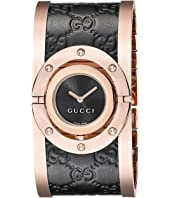 Gucci - Twirl Black Rose PVD & Black Calf GG Leather