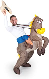 comprar comparacion Inflatable Costumes Paul Lamond Games - Disfraz de cowboy con caballo hinchable para adultos