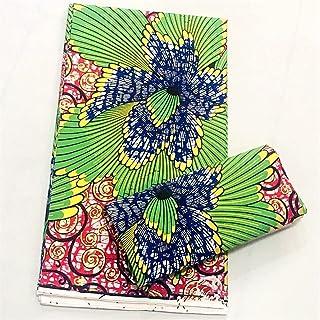 DXLANS Tissus en Couture, Coton Tissu Tissu de Cire Coton de Haute qualité Tissu Cire Imprimé Cire pour Coudre 6Yards Femm...