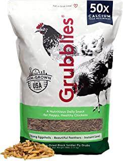 Grubblies Original USA & CA - Natural Grubs for Chickens, Healthier Than Mealworms