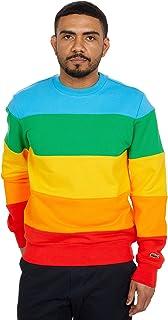 Men's Long Sleeve Polaroid Colorblock Crewneck Sweatshirt
