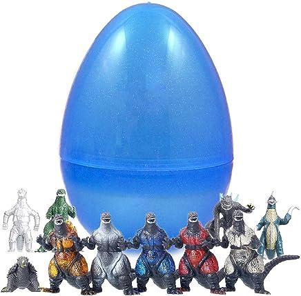 10 Godzilla Figurines Inside 8 Inch Easter Egg