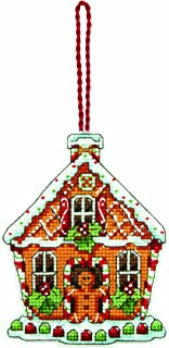 Dimensions Counted Cross Stitch Gingerbread House Christmas Ornament Kit, 3.5'' W x 4.5'' H