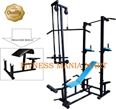 FITNESS MANIA ABS Tower with Multipurpose 20 in 1 Bench (Rectangle Pipe 1.5x3 INCH) (Black)