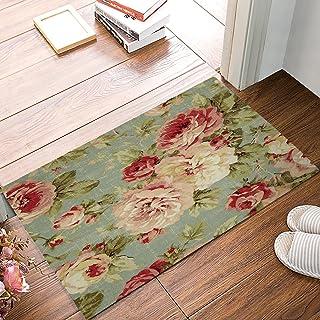 ALAGO Red Roses Flowers Doormats Entrance Front Door Rug Outdoors/Indoor/Bathroom/Kitchen/Bedroom/Entryway Floor Mats,Non-...