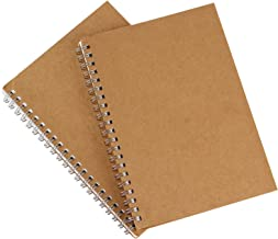Shulaner Spiral Daily to Do List Planners Undated Planner Sketchbook Kraft Paper Softcover, Pack of 2