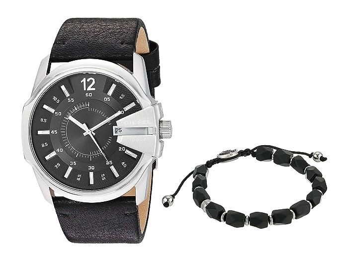 Diesel  Master Chief Watch and Bracelet Gift Set DZ1907 (Black) Watches