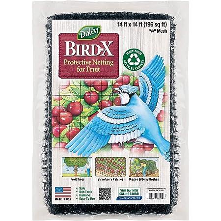 Dalen Gardeneer Garden Netting – Bird Netting for Garden – Reusable Design – Polypropylene Mesh Bird Net – Easy DIY Installation – Effectively Protects Fruit and Berries (14' x 14')