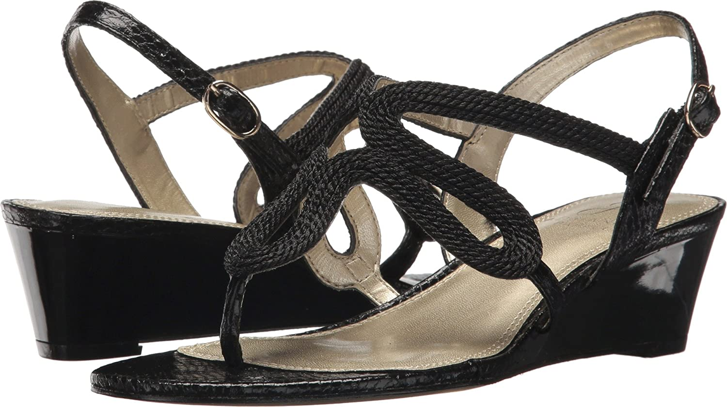 Adrianna Papell Women's Cannes Black Rope 8 M US