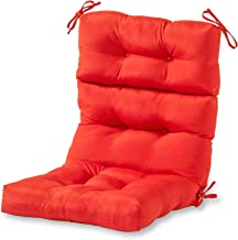 Greendale Home Fashions Indoor/Outdoor High Back Chair Cushion, Salsa