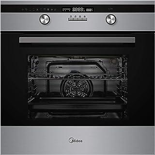 Midea 65DAE40139 Built In Electric Oven 60 cm Silver-Black with Fan, 1 Year Warranty
