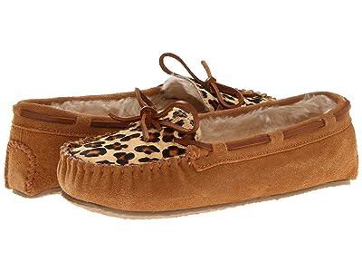 Minnetonka Leopard Cally Slipper (Cinnamon Suede) Women
