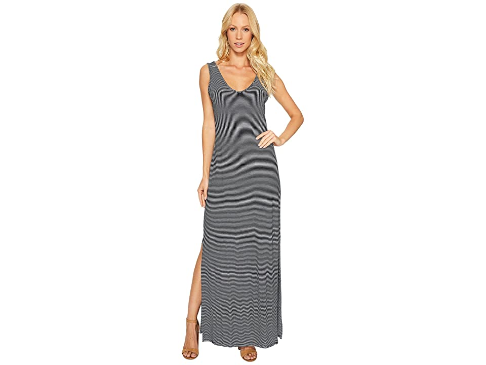 Three Dots V Front V-Back Maxi (Night Iris) Women