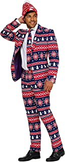 OppoSuits 'Ugly' Christmas Suits Men: Jacket, Pants, Tie & Now: Free Beanie