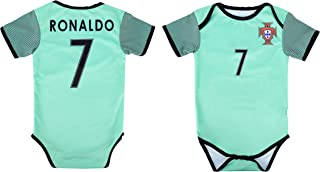 Baby Cristiano Ronaldo #7 Portugal Soccer Jersey Baby Infant and Toddler Onesie Romper Premium Quality