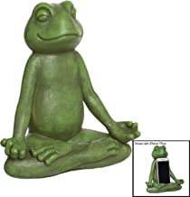 PINE AND PAINT LLC Yoga Frog Zen Garden Statue Phone Stand Decorative Smartphone Holder
