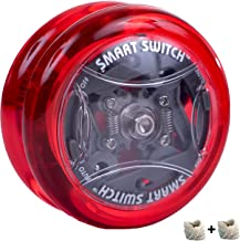 Yomega Power Brain XP yoyo - responsive professional yoyo with Smart Switch which enables Players to Choose Between auto-Return and Manual Styles of Play. + Extra 2 Strings & 3 Month Warrant (Red)