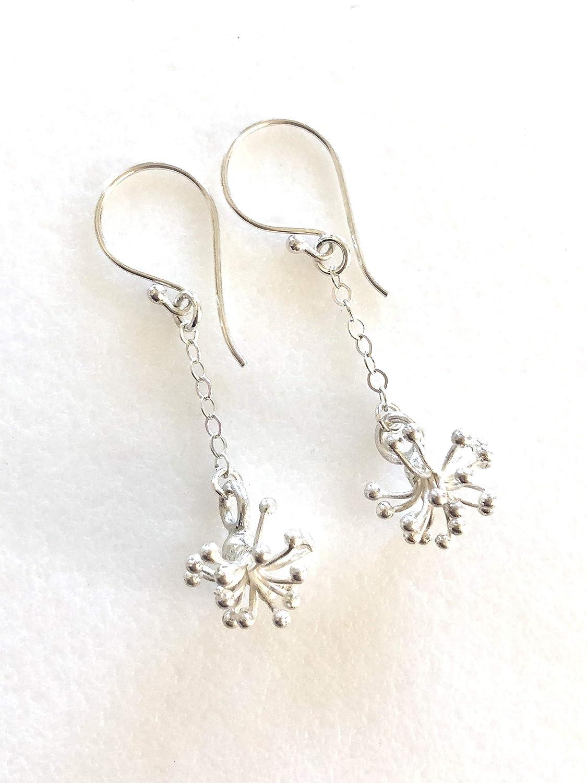 High material Thai Fine Popularity Silver Flower Earrings Karen Tribe Hill