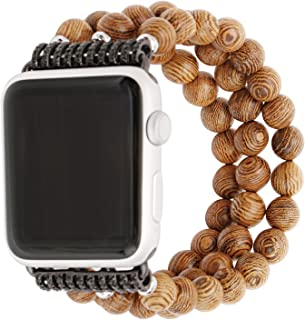 Apple Watch Band 38mm/42mm, Beaded Faux Handmade Agate Bracelet Natural Stone Flexible Replacement Bracelet Strap for Apple Watch Nike+,Series 1 Series 2 Series 3, Sport, Edition