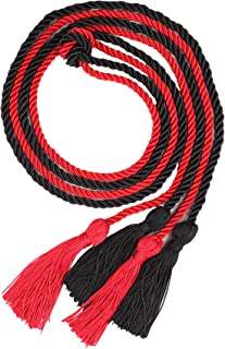 Double Graduation Honor Cords - Black and Red,68