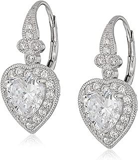 Best heart shaped diamond dangle earrings Reviews