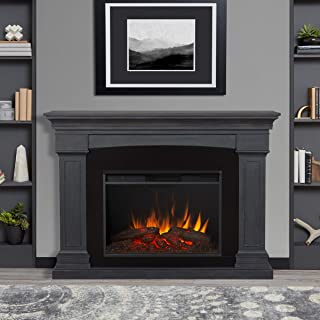 Real Flame Deland Grand Electric Fireplace, Gray