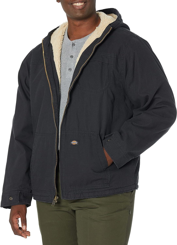 Dickies Men's Big-Tall Sanded Sherpa Lined Hooded Jacket, Black, 3X Regular