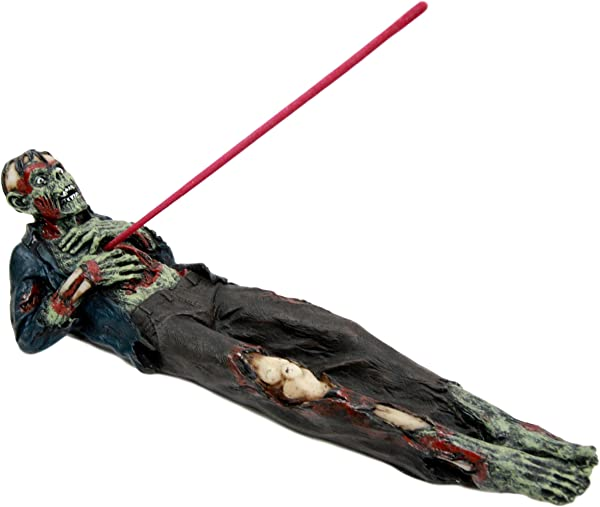 Atlantic Collectibles Zombie Walking Dead With Ripped Chest Stick Incense Burner Figurine 9 5 Long