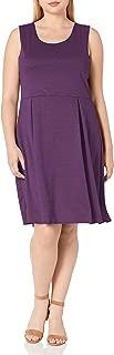 Women's Plus-Size Sleeveless Box-Pleat Dress
