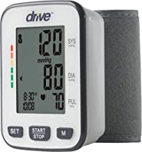 Drive Medical Automatic Deluxe Blood Pressure Monitor, White, Wrist