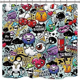 Best graffiti curtain fabric Reviews