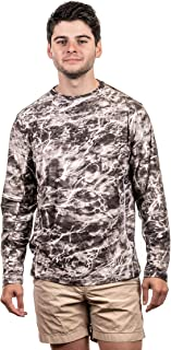 TrailCrest Fishing Mossy Oak Elements Pullover Men's Long Sleeve Fishing T-Shirt 4 Way Stretch +50 UPF Sun Protection