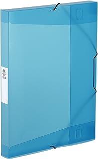 Viquel - Chemise plastique à élastiques - Boite de classement format A4 - Etiquette d'identification sur le côté - Fabriqu...