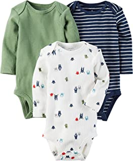 Infant Boys Henley Baby Outfit Winter Bodysuit 3PC Long...