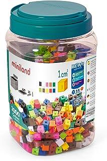 comprar comparacion Miniland- Cubos de 1 cm (1.000 Piezas) Juego matemático (95211) , color/modelo surtido