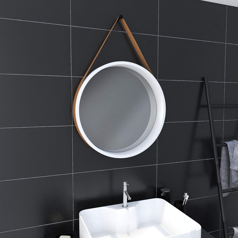 Excellence AURLANE Direct stock discount LAV479 Bathroom Mirror Lacquered Matt Single White