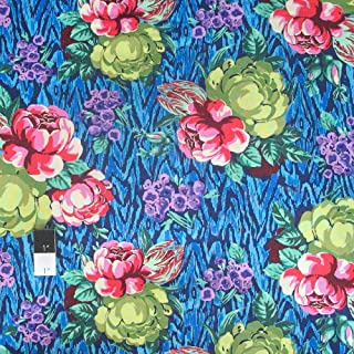 Amy Butler PWAB117 Hapi Tapestry Rose Sapphire Cotton Fabric By Yard