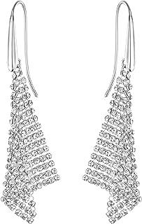 Swarovski Crystal Silver-Tone Fit Small Pierced Earrings