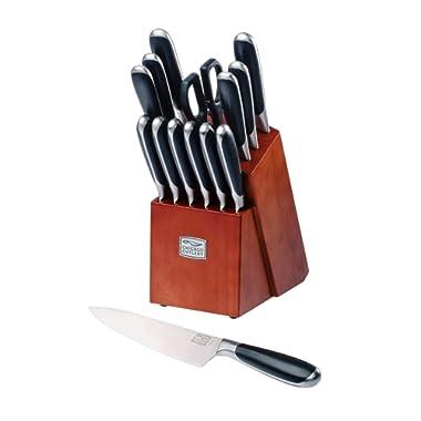 Chicago Cutlery Belden High-Carbon Stainless Steel Knife Block Set (15-Piece)