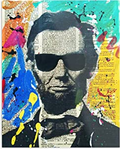 Cool Abraham Lincoln The Best and Style Home Decor Wall Art Print Poster Customize