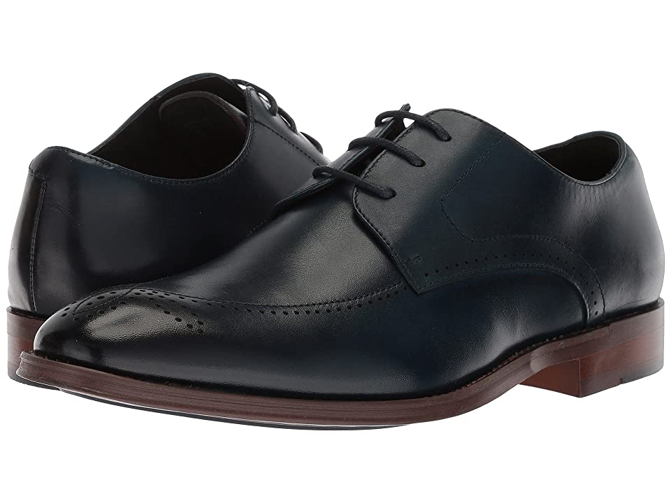 Stacy Adams Ballard Plain Toe Lace Up Oxford (Ink Blue) Men