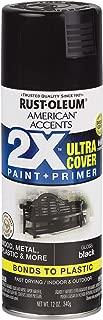 Rust-Oleum 327870-6 PK American Accents Spray Paint, Gloss Black