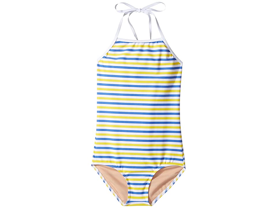 Toobydoo Blue Yellow Stripe One-Piece (Infant/Toddler/Little Kids/Big Kids) (Blue/Yellow/White) Girl