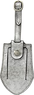 FRYE Leather Luggage Tag, silver